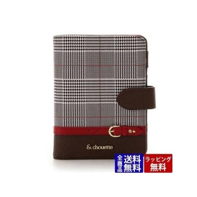 サマンサタバサ カードケース グレンチェックパスポートケース レッド &chouette