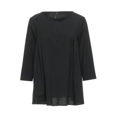 O'DAN LI ブラウス ブラック one size ポリエステル 63% / レーヨン 35% / ポリウレタン 2% ブラウス
