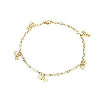 YHDNCG Ladies Anklet Bracelet Couple Love Anklet Stainless Steel Adjustable Anklet Jewelry Best Gift