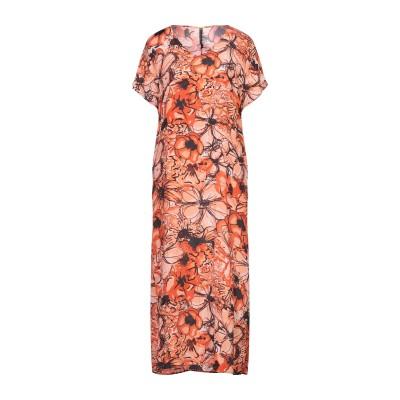 マニラ グレース MANILA GRACE 7分丈ワンピース・ドレス オレンジ 38 レーヨン 65% / シルク 35% 7分丈ワンピース・ドレス
