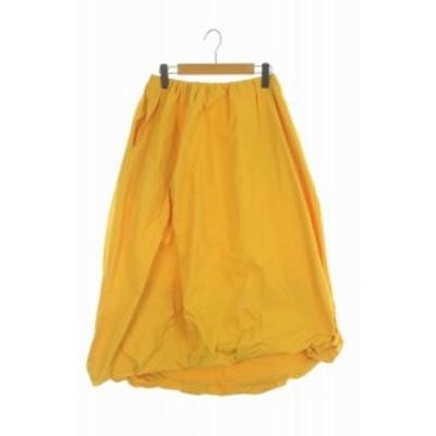 【中古】エンフォルド ENFOLD 19SS スカート ロング ボリューム 38 黄 /HH ■OS レディース