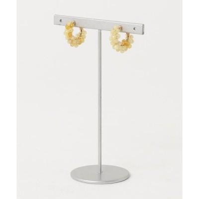 イヤリング 【marinaJEWELRY】AAA Yellow Opal pave earring