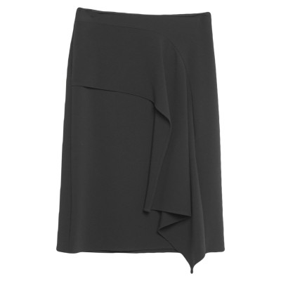 MALÌPARMI 7分丈スカート ブラック 40 ポリエステル 80% / レーヨン 14% / ポリウレタン 6% 7分丈スカート
