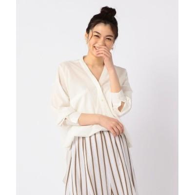 【ノーリーズ】 ポプリン2WAYビッグシャツ レディース ホワイト F NOLLEY'S
