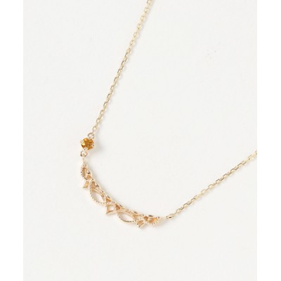 ネックレス K10誕生石ネックレス(シトリン)