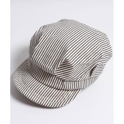 FUNALIVE / ヒッコリーストライプキャスケット WOMEN 帽子 > キャスケット