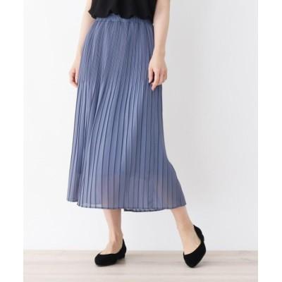 【シューラルー】 グラデーションプリーツジョーゼットスカート レディース ブルー 03(L) SHOO・LA・RUE