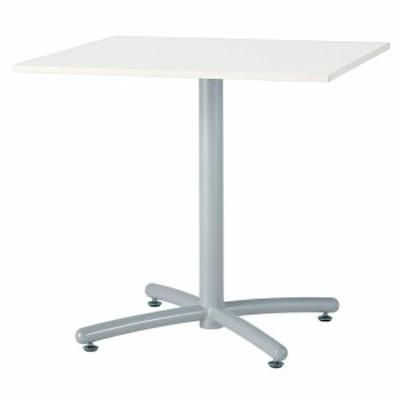 【法人様限定配送/直送便】 井上金庫販売 ミーティング テーブル UTS-S750K WH 幅750 奥行750 高さ700 mm