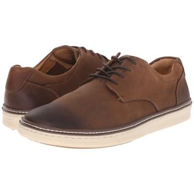 ジョンストン&マーフィー Johnston & Murphy メンズ スニーカー シューズ・靴 McGuffey Casual Plain Toe Sneaker Brown Oiled Full Grain