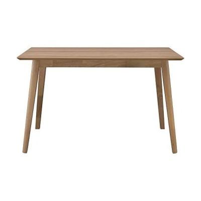アイリスプラザ ダイニングテーブル 木製 インテリアに馴染みやすい DTV-1275 幅120×奥行75×高さ72cm オーク