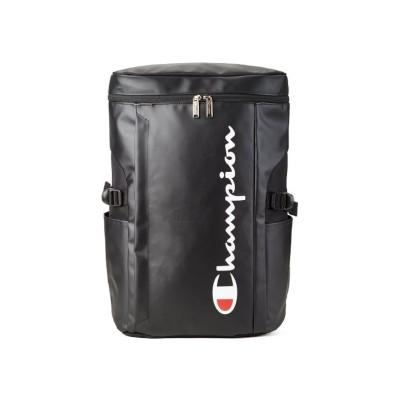 【カバンのセレクション】 チャンピオン リュック 25L メンズ レディース スクエア ボックス型 防水 通学 champion 62486 ユニセックス ブラック フリー Bag&Luggage SELECTION