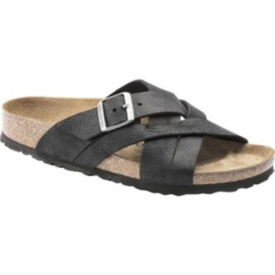 ビルケンシュトック Birkenstock メンズ サンダル シューズ・靴 Lugano Oiled Leather Slide Camberra Black Oiled Nubuck Leather