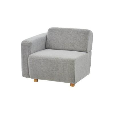 ソファー 1人掛け 椅子 テレワーク 在宅 チェア 一人暮らし コンパクト ミニ 小さめ グレー 約 幅80 奥行88 高さ69 座面高41