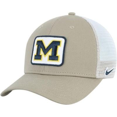 ユニセックス スポーツリーグ アメリカ大学スポーツ Michigan Wolverines Nike Classic 99 Trucker Adjustable Snapback Hat - Khaki -