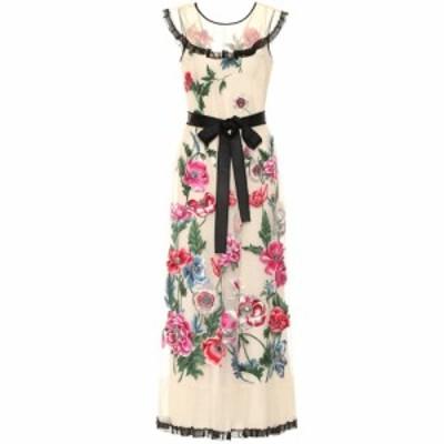 レッド ヴァレンティノ REDValentino レディース パーティードレス ワンピース・ドレス Embroidered floral gown Avorio