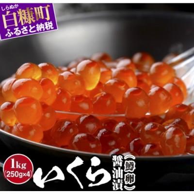 いくら醤油漬(鱒卵)【1kg(250g×2×2)】(23,000円)