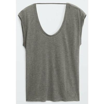 マッシモ ドゥッティ Tシャツ レディース トップス Basic T-shirt - grey