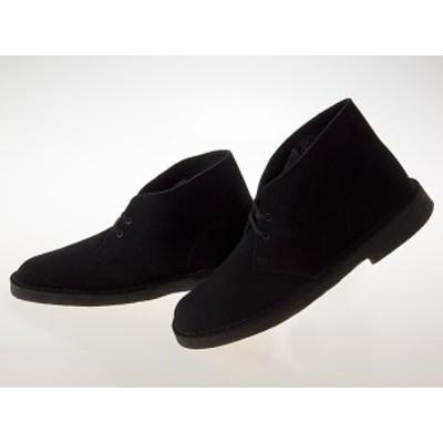 送料無料!!クラークス CLARKS DESERT BOOTS デザートブーツ BLACK SUEDE ブラック スエード #26138227