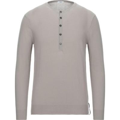 オジオ HoSIO メンズ ニット・セーター トップス Sweater Light grey