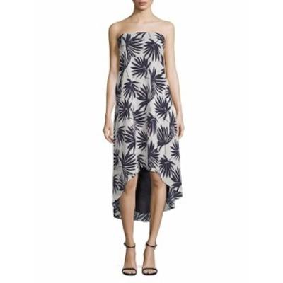 ルッカクチュール レディース ワンピース Delilah Palm-Print Strapless Hi-Lo Dress