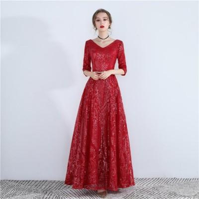 イブニングドレス パーティードレス 安い 可愛い ロング ドレス キャバ ナイトクラブ 華やか パーティー 2次会 発表会 演奏会