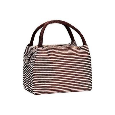 ミニポータブルアルミホイル防水ランチバッグ、男性と女性のためのハンドバッグ、オフィスや旅行用に簡単で快適な持ち運び、ブラウン(コーヒー)