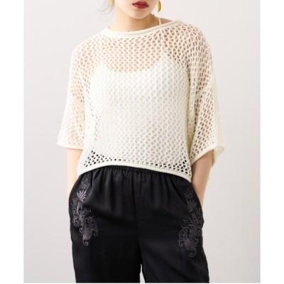 tシャツ Tシャツ メッシュ半袖ショートプルオーバー