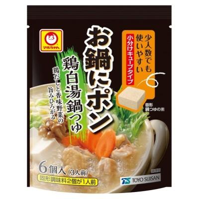 東洋水産 マルちゃん お鍋にポン 鶏白湯鍋つゆ 30g(5.0g×6個) ×30袋入