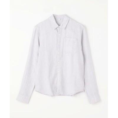 TOMORROWLAND/トゥモローランド リネン ロングスリーブ ポケットシャツ MJZ3376 14 グレー系 1(M)