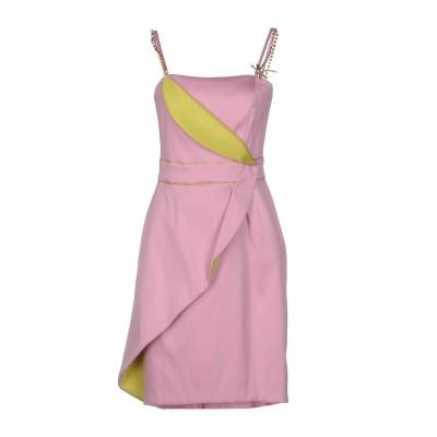 MARIA GRAZIA SEVERI ミニワンピース&ドレス ピンク 42 ポリエステル 86% / ナイロン 13% / ポリウレタン 1% ミ