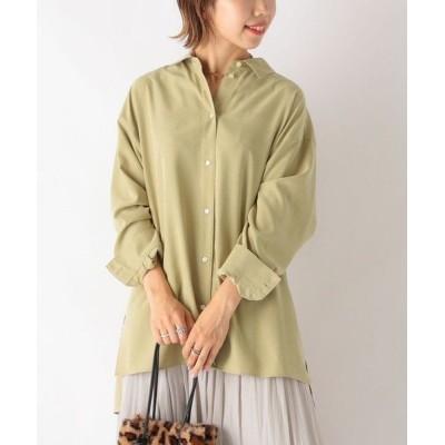 SHIPS for women/シップスウィメン SHIPS any: ピーチサテンシャツ ライトグリーン ONE SIZE
