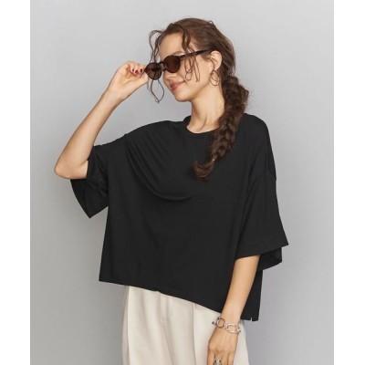 BEAUTY&YOUTH UNITED ARROWS / BY ワイドサイドスリット5分袖Tシャツ WOMEN トップス > Tシャツ/カットソー