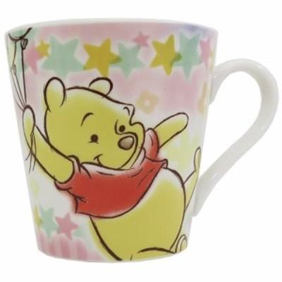 ◆くまのプーさん 陶器製 マグ/ハピネス(ディズニーマグカップ おしゃれ コップ マグ 食器(337)