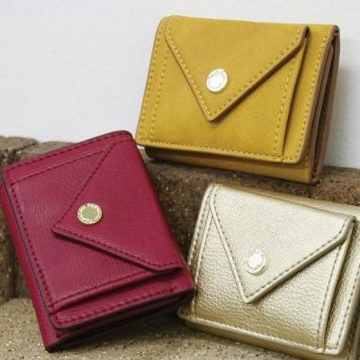 シンプルデザインのコンパクト財布 ミニ かわいい コンパクト 小銭入れPaquet du Cadeau