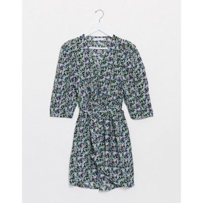 オンリー ミニドレス レディース Only mini dress with belted waist in mixed ditsy floral エイソス ASOS