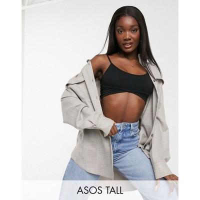 エイソス ASOS Tall レディース ジャケット シャツジャケット アウター Tall Textured Suit Shacket ブラウン