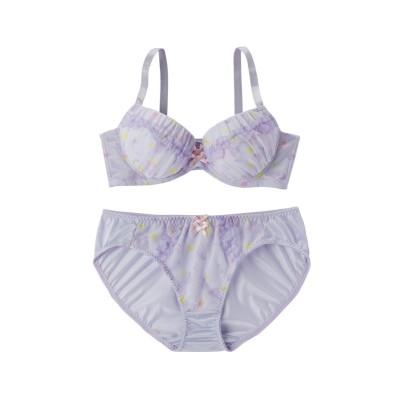 アクアフリルブラ・ショーツセット(ラージサイズ)(F90/3L) (ブラジャー&ショーツセット)Bras & Panties