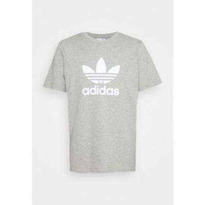 アディダス メンズ ファッション TREFOIL UNISEX - Print T-shirt - medium grey heather/white
