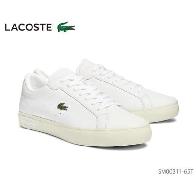 ラコステ LACOSTE POWER COURT 0721 1 スニーカー レザー 正規品 メンズ 靴 ホワイト SM00311-65t