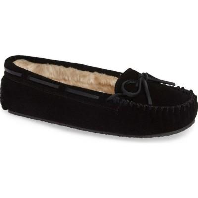 ミネトンカ MINNETONKA レディース スリッパ シューズ・靴 'Cally' Slipper Black Suede