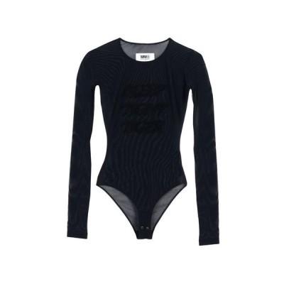 MM6 MAISON MARGIELA Tシャツ  レディースファッション  トップス  Tシャツ、カットソー  半袖 ブラック