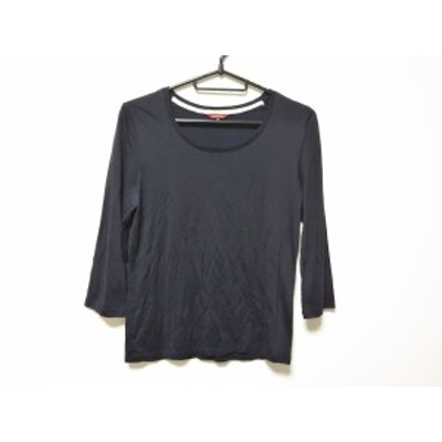 アマカ AMACA 七分袖セーター サイズ40 M レディース ネイビー【中古】20200729