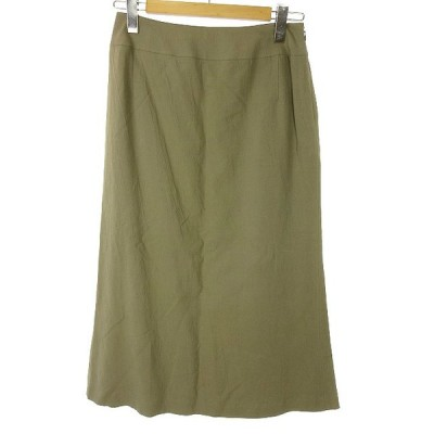 【中古】ヒロココシノ HIROKO KOSHINO リネン混 ロング スカート 11 グレー系 レディース 【ベクトル 古着】