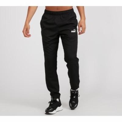 プーマ Puma メンズ スウェット・ジャージ ボトムス・パンツ core active woven pant Black/White