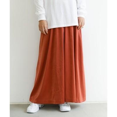 スカート サテンゴムギャザースカート*