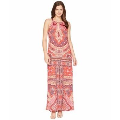 Hale Bob ヘイルボブ ドレス 一般 Modern Mosaic Stretch Satin Maxi Dress
