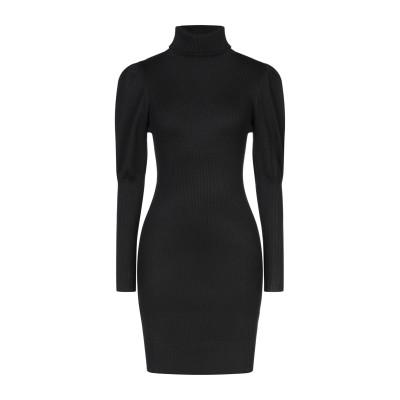 VANESSA SCOTT ミニワンピース&ドレス ブラック one size レーヨン 70% / ポリエステル 30% ミニワンピース&ドレス