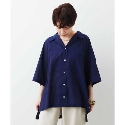 シャツ ブラウス MEDE19F ジャパンファブリックを使用したオーバーオープンカラーシャツ