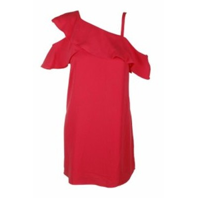 Rachel Roy レイチェルロイ ファッション ドレス Rachel Rachel Roy Coral Asymmetrical Cold-Shoulder Shift Dress 0