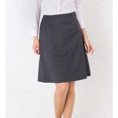 ウィンドペイン×グレ−セミフレアスカート ひざ丈 きれいめ